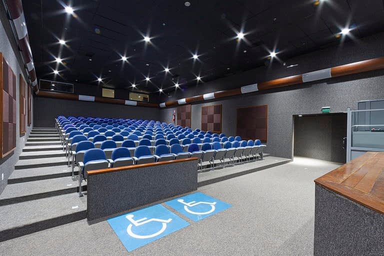 Auditório Buriti vista para cadeiras